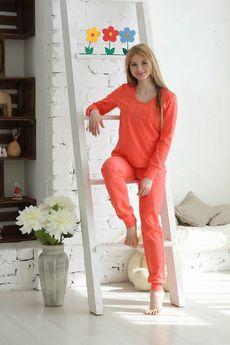Пижама из хлопка: брюки с кулиской и кофта FIORITA