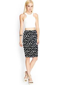 Трикотажная юбка со звездами Kokette