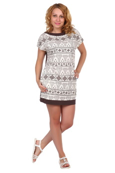 Простое короткое платье ElenaTex